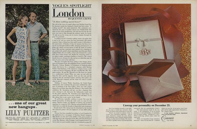 Article Preview: Vogue's Spotlight: London, November 15 1969 | Vogue