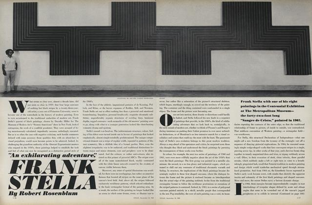 "Article Preview: ""An Exhilarating Adventure,"" Frank Stella, November 15 1969 
