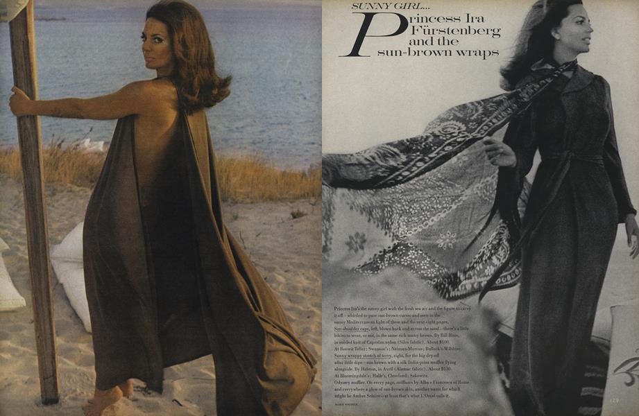 Sunny Girl... Princess Ira Fürstenberg and the Sun-Brown Wraps