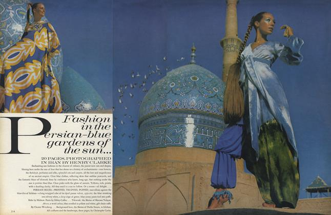 Article Preview: Fashion in the Persian-Blue Gardens of the Sun..., December 1969 | Vogue