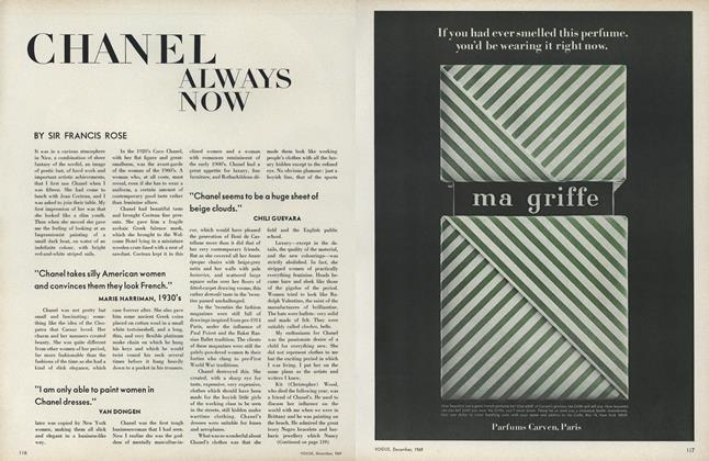 Article Preview: Chanel Always Now, December 1969 | Vogue