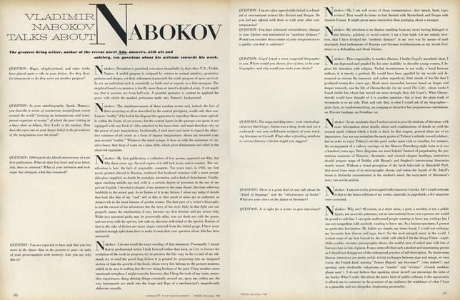 Article Preview: Vladimir Nabokov Talks About Nabokov, December 1969 | Vogue