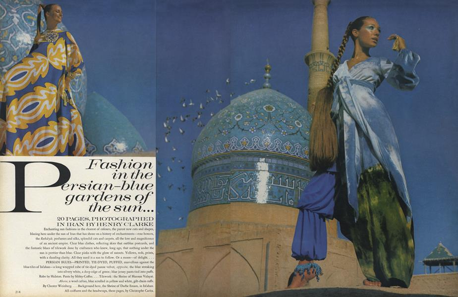 Fashion in the Persian-Blue Gardens of the Sun...