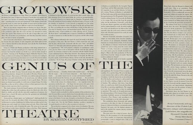 Grotowski Genius of the Theatre
