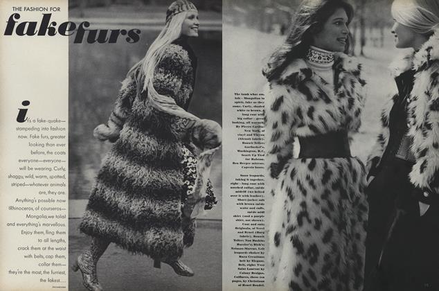 The Fashion for Fake Furs