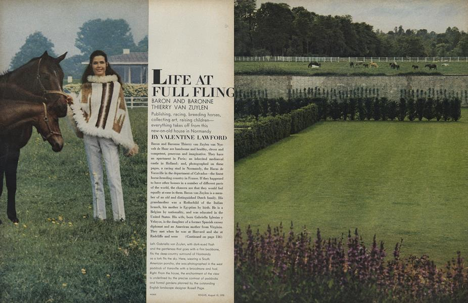 Life at Full Fling: Baron and Baronne Thierry Van Zuylen