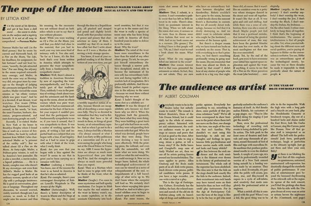 The rape of the moon. Normal Mailer talks about sexual lunacy and the wasp