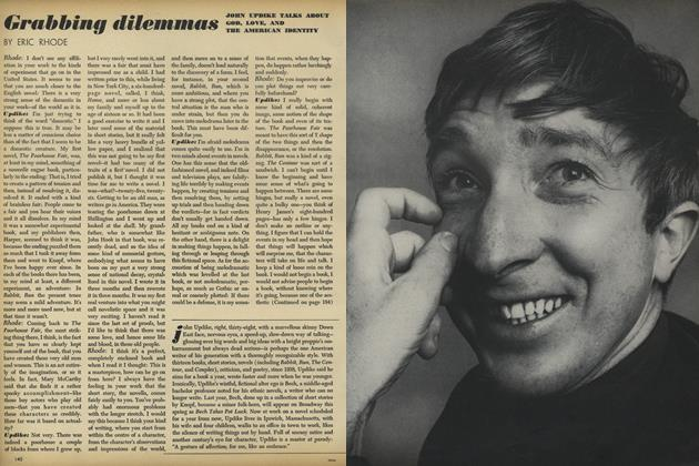 Grabbing dilemmas: John Updike Talks About God, Love, and the American Identity