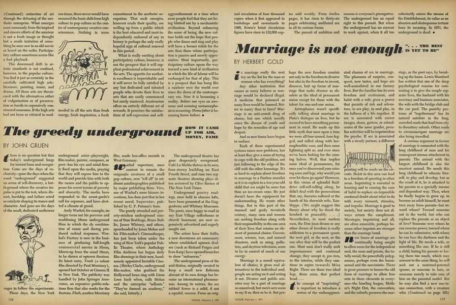 "Marriage is not enough: ""... The Best is Yet to Be"""