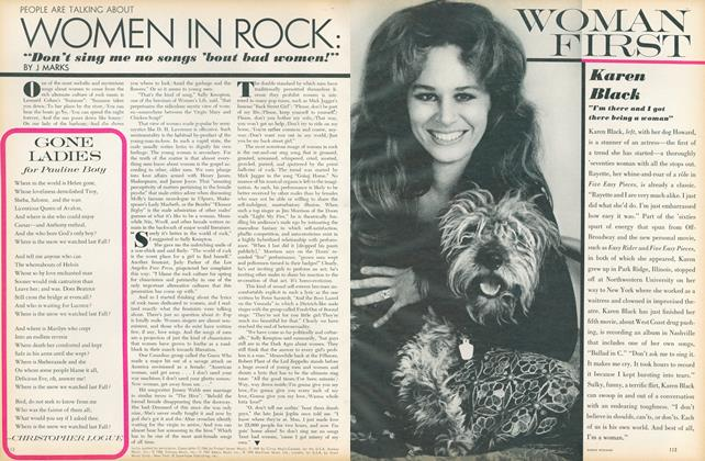 "Article Preview: Women in Rock: ""Don't Sing Me No Songs 'bout Bad Women!"", March 1 1971 