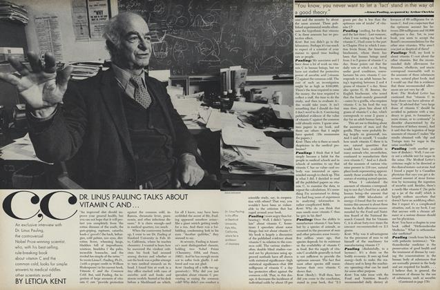 Article Preview: Dr. Linus Pauling Talks About Vitamin C and..., April 1 1971 | Vogue