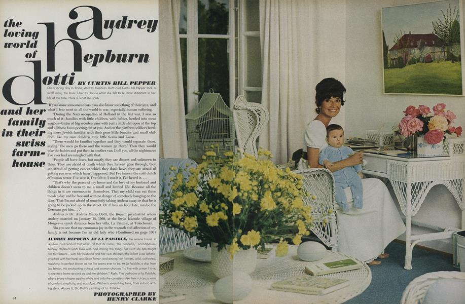 The Loving World of Audrey Hepburn Dotti and Her family in their Swiss Farm-House