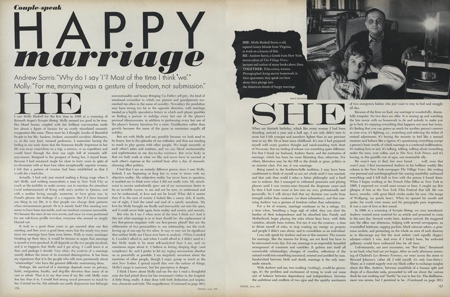Couple-Speak: Happy Marriage