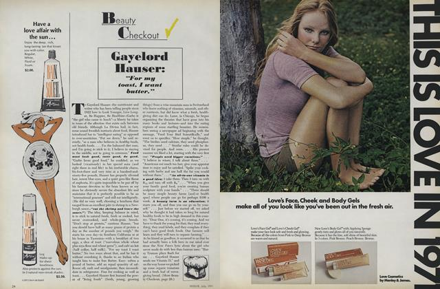 "Article Preview: Gayelord Hauser: ""For My Toast, I Want Butter"", July 1971 