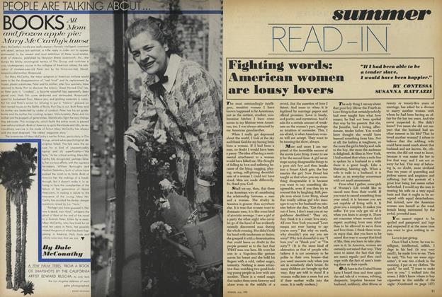 Article Preview: Summer Read—In: Fighting words: American Women are Lousy Lovers, July 1971 | Vogue