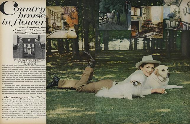 Article Preview: Country House in Flower: Near London, for Prince and Princess Stanislas Radziwill, July 1971 | Vogue