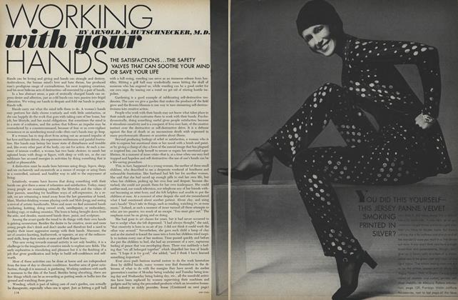 Article Preview: Working With Your Hands, July 1971 | Vogue