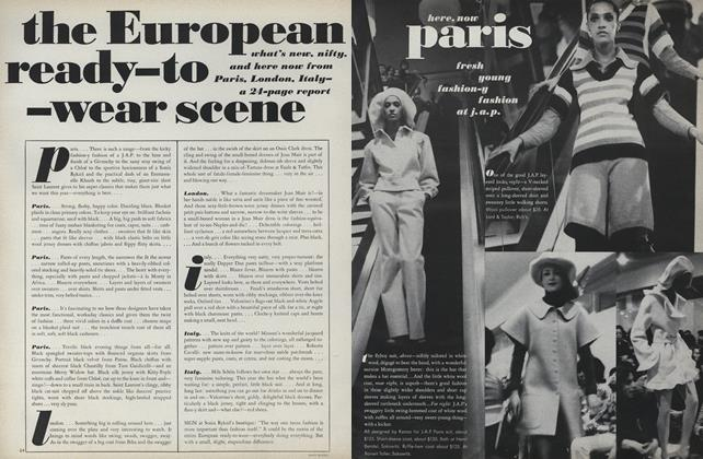 Article Preview: The European Ready-to-Wear Scene, August 15 1971 | Vogue