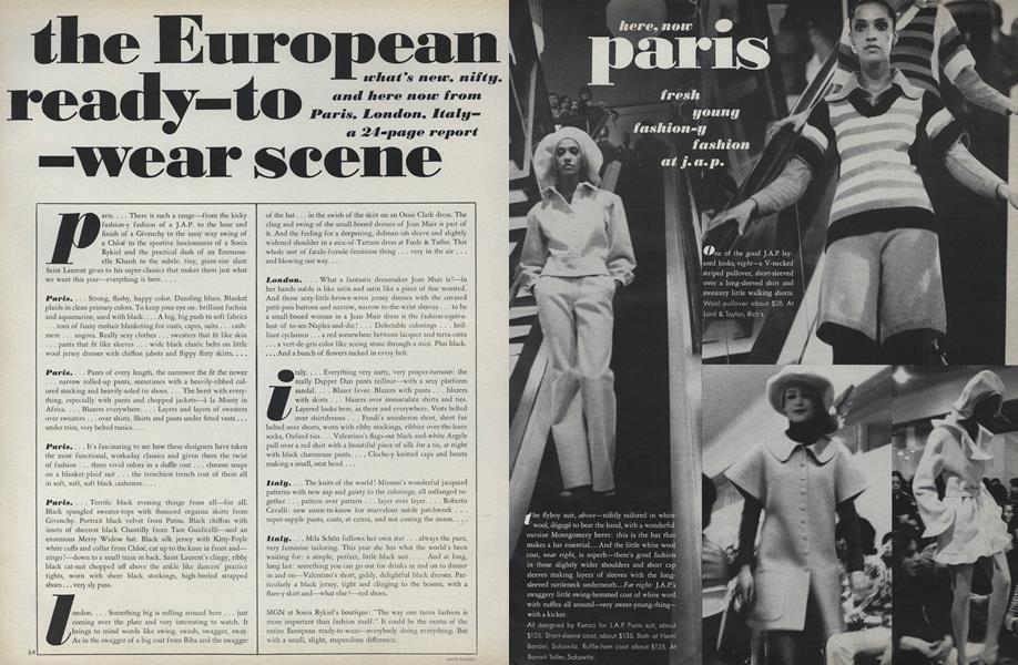 The European Ready-to-Wear Scene