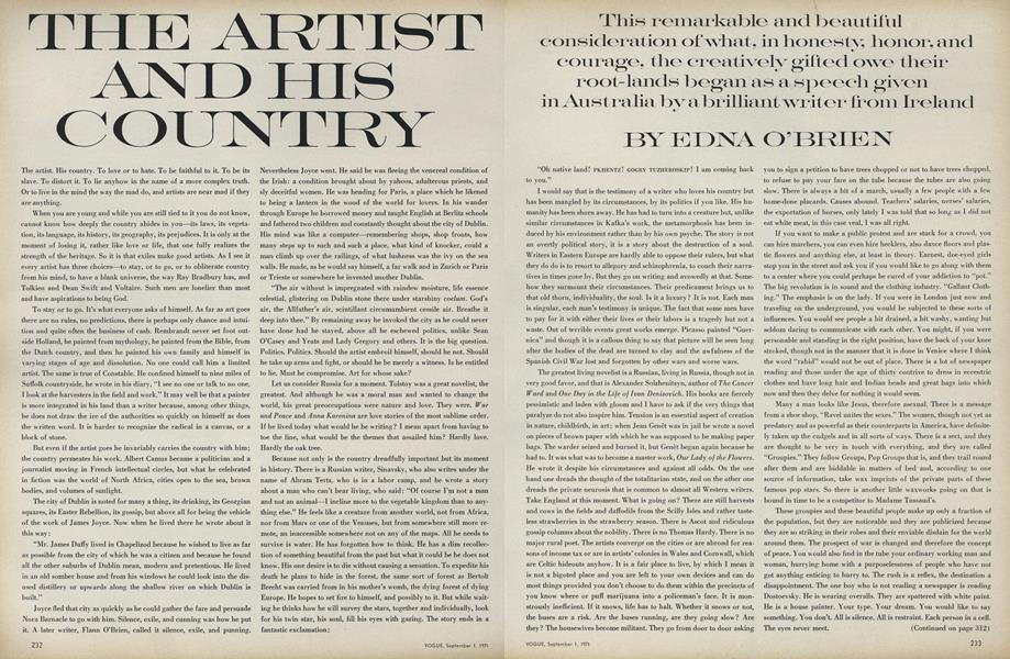 The Artists and His Country