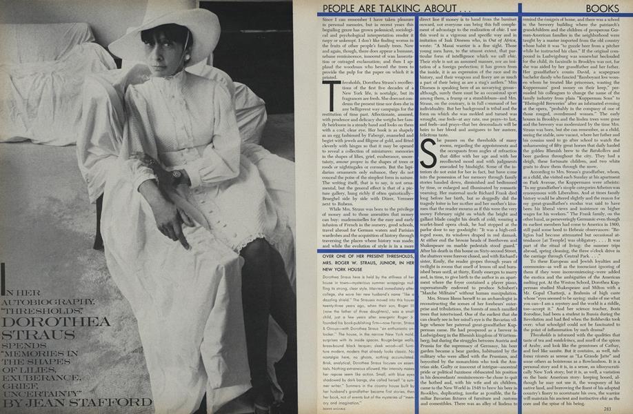 Books: Dorothea Straus