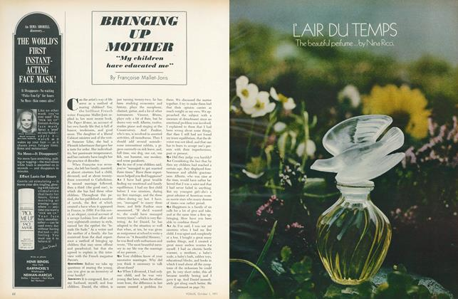 "Article Preview: Bringing Up Mother: ""My Children Have Educated Me"", October 1 1971 