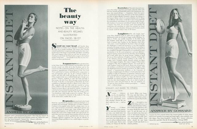 Article Preview: Vogue's A-Z Guide to Fitness, October 1 1971 | Vogue