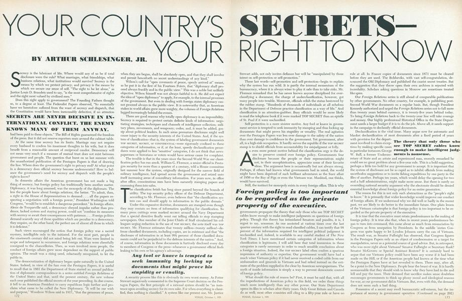 Your Country's Secrets—Your Right to Know