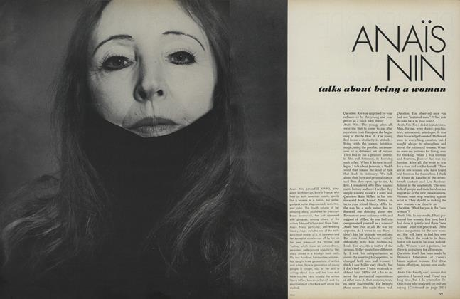 Anais Nin: Talks About Being a Woman