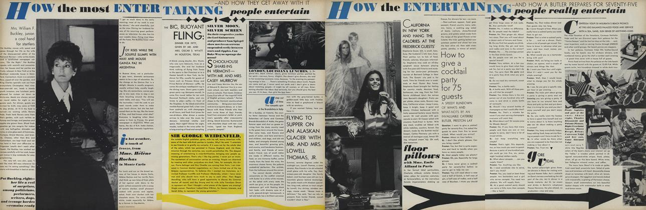 Article Preview: How the Most Entertaining People Entertain, November 15 1971 | Vogue