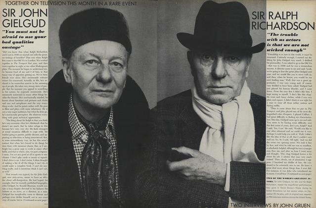 Article Preview: Sir John Gielgud, Sir Ralph Richardson, November 15 1971 | Vogue