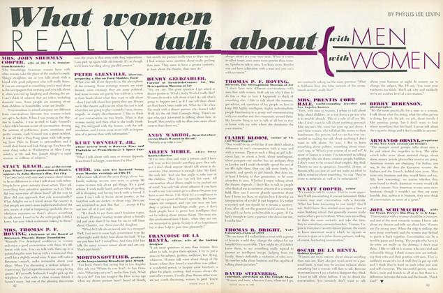 What Women Really Talk About With Men, With Women