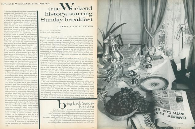English Weekend: The Original. True Weekend History, Starring Sunday Breakfast