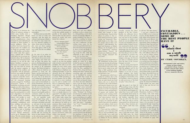Snobbery: Incurable, Contagious...Some of the Best People Have It