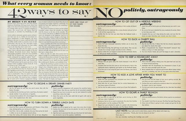 What Every Woman Needs to Know: 42 Ways to Say No Politely, Outrageously