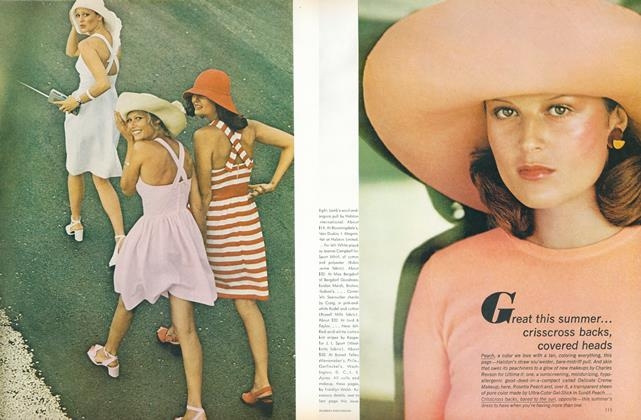Great This Summer: Crisscross Backs, Covered Heads