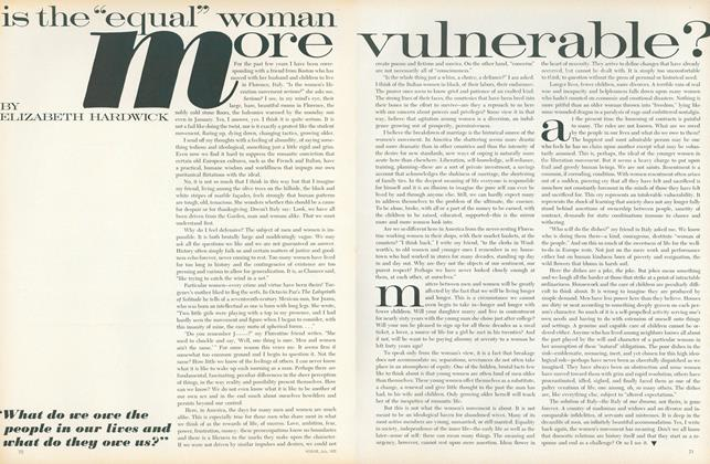"""Is the """"Equal"""" Woman More Vulnerable?"""