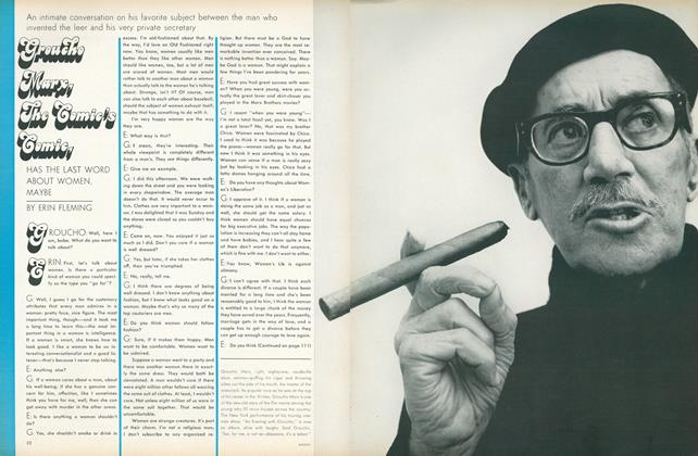 Groucho Marx, the Comic's Comic, Has the Last Word About Women, Maybe