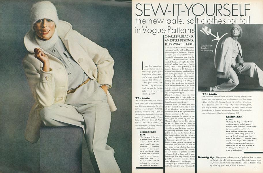 Sew-it-yourself: The New Pale, Soft Clothes for Fall