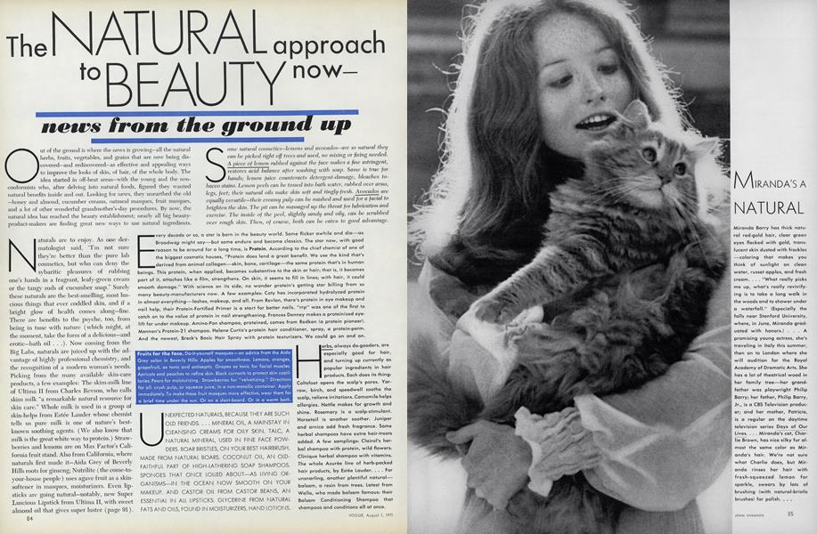 The Natural Approach to Beauty Now—News from the Ground Up