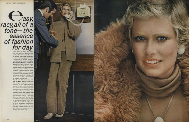 Article Preview: The New York Collections: Easy, Racy, All of the Tone—The Essences of Fashion for Day, September 1 1972 | Vogue
