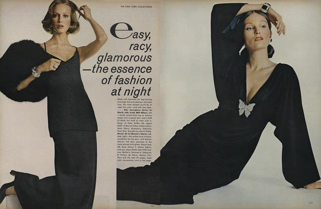 Article Preview: The New York Collections: Easy, Racy, Glamorous—The Essence of Fashion At Night, September 1 1972 | Vogue