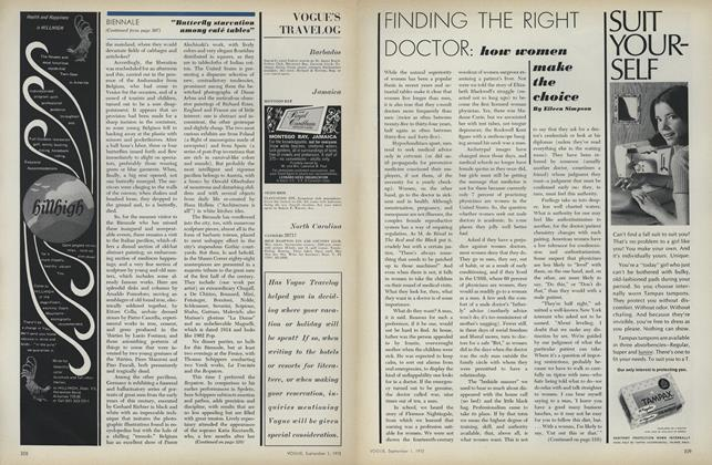 Article Preview: Finding the Right Doctor: How Women Make the Choice, September 1 1972 | Vogue