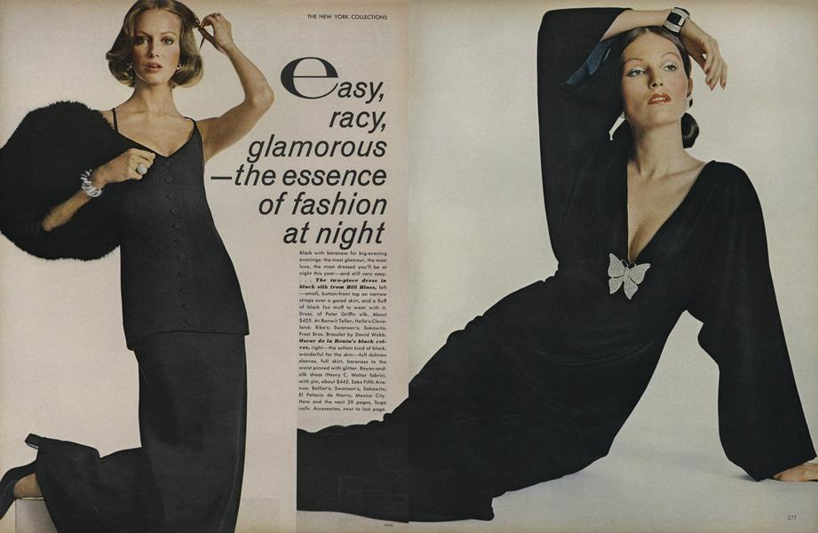 The New York Collections: Easy, Racy, Glamorous—The Essence of Fashion At Night
