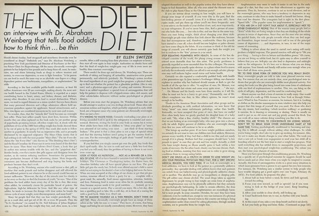 Article Preview: The No-Diet Diet, September 15 1972 | Vogue