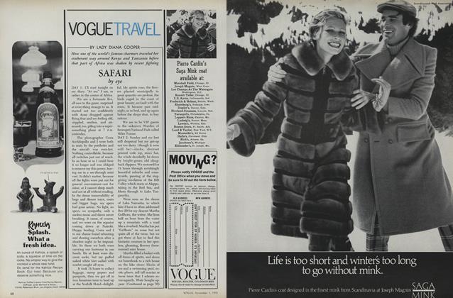 Vogue Travel: Safari by Eye