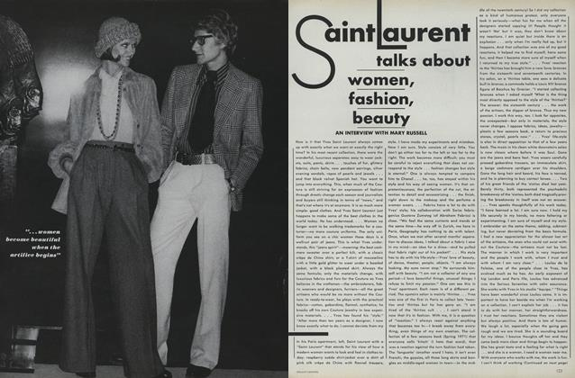 Saint Laurent Talks About Women, Fashion, Beauty: An Interview with Mary Russell
