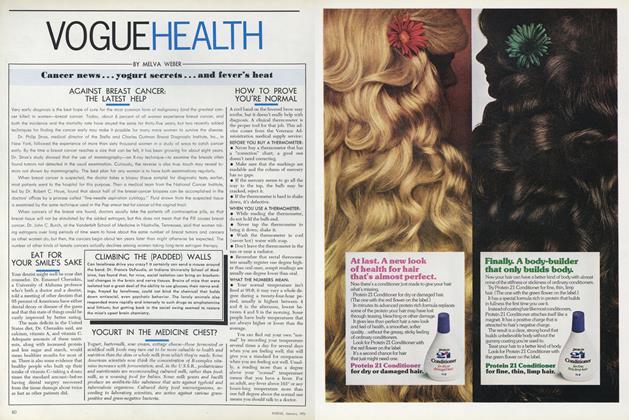 Cancer News/Yogurt Secrets...