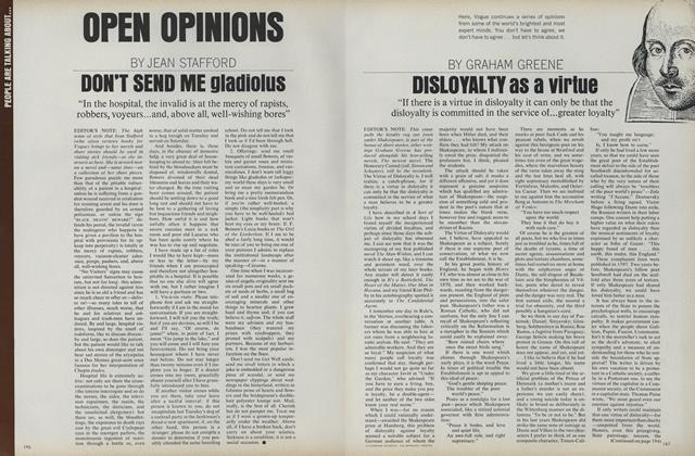 Open Opinions: Disloyalty as a Virtue