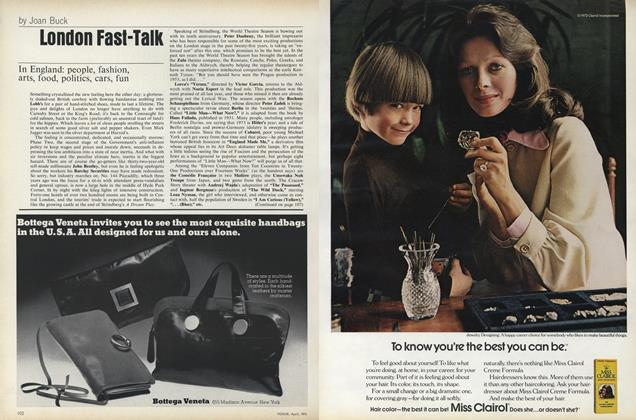 Article Preview: London Fast-talk, April 1973 | Vogue